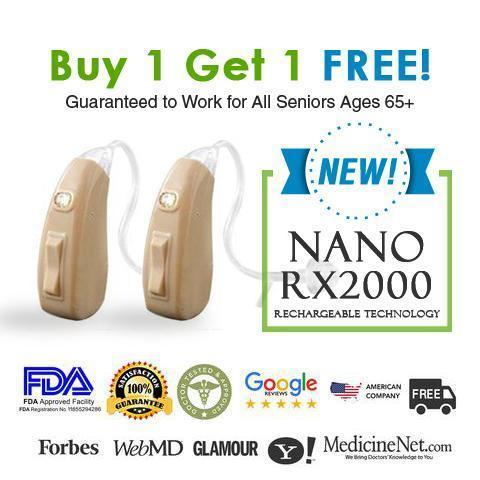Nano RX2000 Rechargeable Hearing Aid