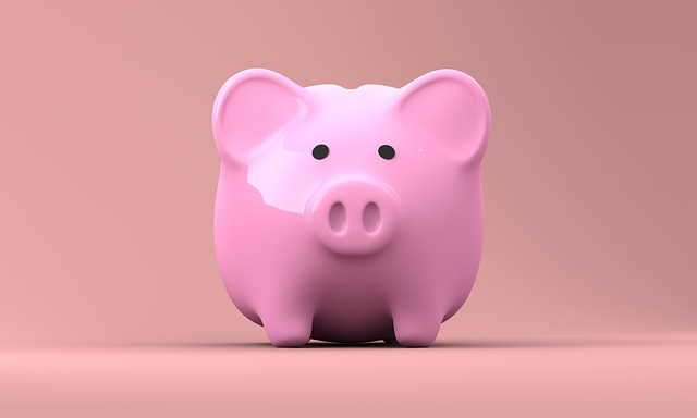 pink piggy bank for savings